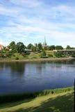 Cattedrale dal fiume Fotografia Stock