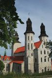 Cattedrale dalla Gotland visby Fotografia Stock