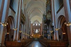Cattedrale Danimarca di Roskilde del soffitto di Nave Fotografie Stock Libere da Diritti