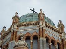 Cattedrale decorata del tetto della chiesa storica immagine stock libera da diritti