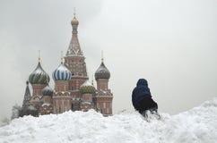 Cattedrale dei basilici della st sul quadrato rosso a Mosca fotografia stock