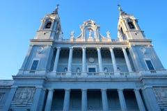 Cattedrale del Almudena a Madrid Immagine Stock