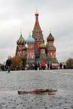 Cattedrale del basilico del san a Mosca, Russia Immagini Stock