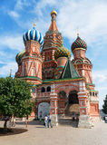 Cattedrale del basilico del san sul quadrato rosso a Mosca, Russia Fotografia Stock