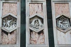 Cattedrale del dettaglio di Firenze L'Italia Fotografia Stock Libera da Diritti