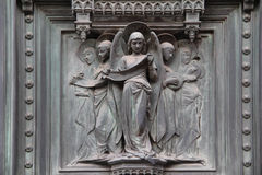 Cattedrale del dettaglio di Firenze L'Italia Fotografia Stock