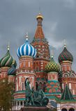 Cattedrale del di Vasily benedetto sul quadrato rosso Immagini Stock Libere da Diritti