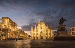 Cattedrale del duomo della piazza di Milano immagine stock