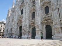 Cattedrale del duomo di Milano fotografie stock libere da diritti
