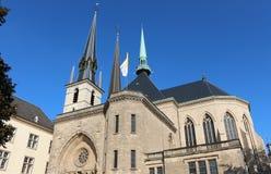 Cattedrale del Notre Dame, Lussemburgo Fotografie Stock Libere da Diritti