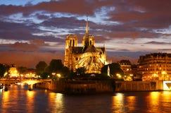 Cattedrale del Notre Dame a Parigi Fotografie Stock