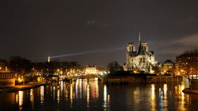 Cattedrale del Notre Dame, Parigi Fotografie Stock Libere da Diritti