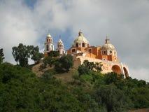 Cattedrale del pendio di collina Fotografie Stock