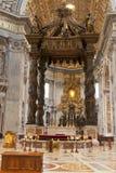 Cattedrale del Peter del san a Città del Vaticano Fotografie Stock