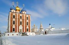 Cattedrale del presupposto del Cremlino di Rjazan', la chiesa principale della terra di Rjazan' fotografie stock libere da diritti