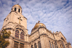 Cattedrale del presupposto - punto di riferimento di Varna, Bulgaria Fotografie Stock Libere da Diritti