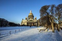 Cattedrale del ` s della st Isaac a St Petersburg Fotografia Stock