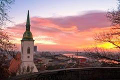 Cattedrale del ` s di St Martin a Bratislava Fotografia Stock Libera da Diritti