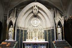 Cattedrale del ` s di St Patrick - altare della st Brigid e Bernard Immagini Stock