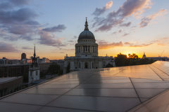 Cattedrale del ` s di St Paul da un nuovo cambiamento Immagine Stock Libera da Diritti