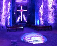 Cattedrale del sale in Zipaquira Colombia Fotografie Stock Libere da Diritti