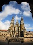 Cattedrale del Santiago de Compostela Immagini Stock Libere da Diritti