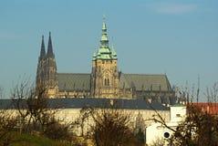 Cattedrale del Vitus del san a Praga Fotografia Stock