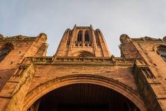 Cattedrale dell'anglicano di Liverpool immagini stock