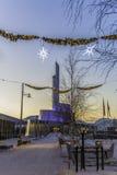Cattedrale dell'aurora boreale nel Natale Immagini Stock