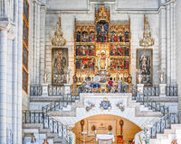 Cattedrale dell'interno di Almudena Fotografie Stock Libere da Diritti