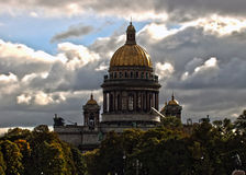 Cattedrale dell'Isaac del san Immagine Stock Libera da Diritti