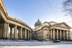 Cattedrale della cattedrale di Kazan a St Petersburg Fotografia Stock