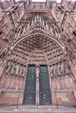 Cattedrale della facciata della nostra signora a Strasburgo, l'Alsazia Fotografia Stock