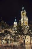 Cattedrale della nostra signora della colonna a Saragozza fotografia stock libera da diritti