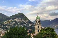 Cattedrale della S Lorenzo, Lugano immagine stock