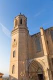 Cattedrale della Santa Maria Gerona, Costa Brava, Catalogna, Spagna Fotografie Stock Libere da Diritti