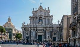Cattedrale della st Agatha - Catania Sicilia Fotografia Stock Libera da Diritti