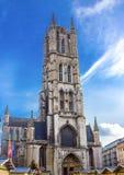 Cattedrale della st Bavo, Gand fotografia stock libera da diritti