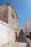 Cattedrale della st Elia. Peschici. La Puglia. L'Italia. Fotografia Stock