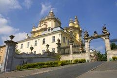 Cattedrale della st George a Lviv Immagini Stock