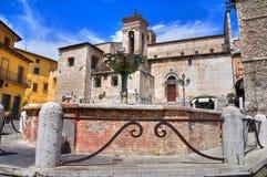 Cattedrale della st Giovenale. Narni. L'Umbria. L'Italia. Immagini Stock Libere da Diritti