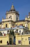 Cattedrale della st Giura Leopoli l'ucraina Fotografie Stock
