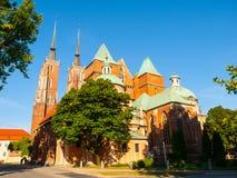 Cattedrale della st John The Baptist a Wroclaw Fotografie Stock Libere da Diritti