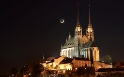 Cattedrale della st Paul a Brno Fotografia Stock Libera da Diritti