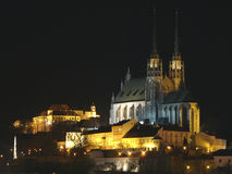 Cattedrale della st Peter e Paul & castello Spilberk Fotografie Stock