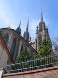 Cattedrale della st Peter e Paul (Petrov) a Brno, Repubblica ceca. fotografia stock libera da diritti