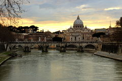 Cattedrale della st Peter a Roma, Italia Fotografia Stock Libera da Diritti