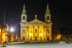 Cattedrale della st Publius a Floriana. Malta Immagine Stock Libera da Diritti