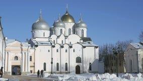 Cattedrale della st Sophia in Veliky Novgorod video d archivio