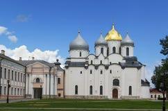 Cattedrale della st Sophia The Wisdom Of God, Veliky Novgorod fotografia stock libera da diritti